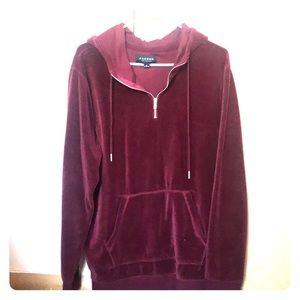 Men's Pac sun velvet hoodie with zipper